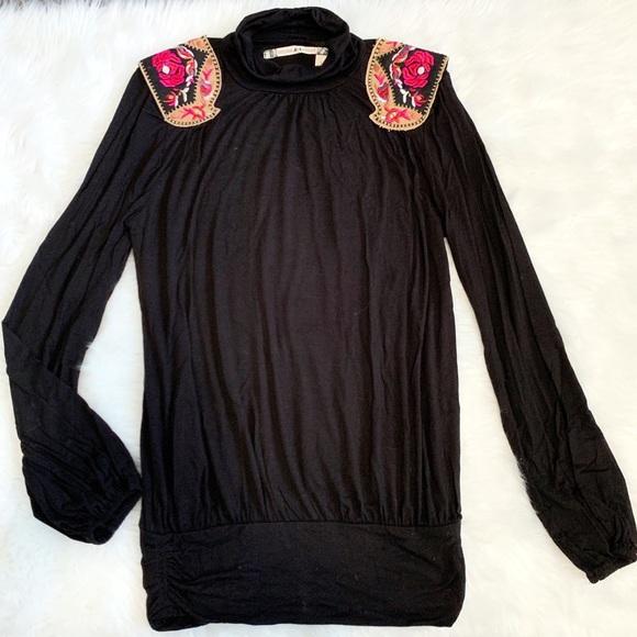 Anthropologie Tops - Chelsea & Violet Embroidered Shoulder Blouse